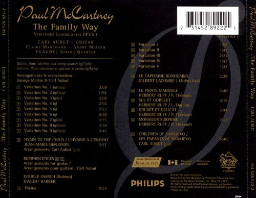 Paul McCartney: The Family Way Variations Concertantes, Op. 1