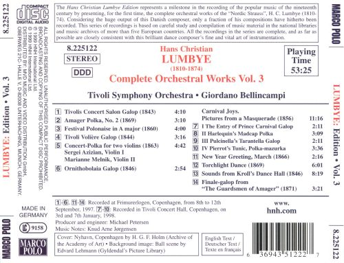 Lumbye: Complete Orchestral Works, Vol. 3