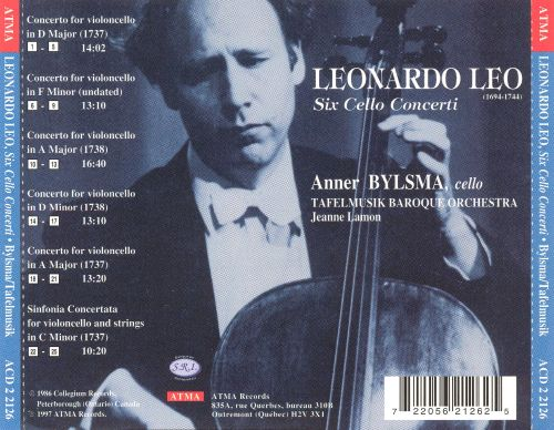 Leonardo Leo: Six Cello Concerti