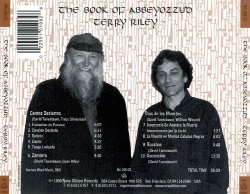 Terry Riley: The Book of Abbeyozzud