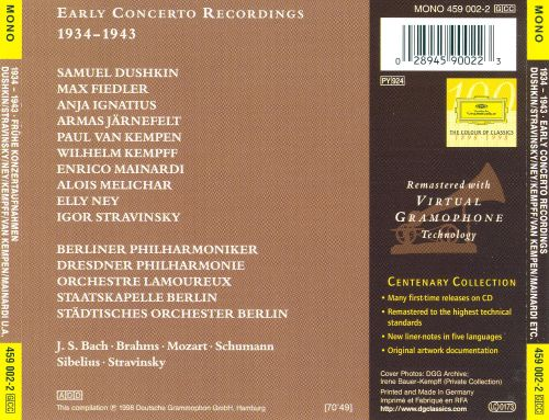 Early Concerto Recordings (1934-1943)