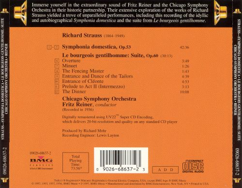 Richard Strauss: Sympohnia Domestica, OP. 53; Suite from Le bourgeois gentilhomme, Op. 60