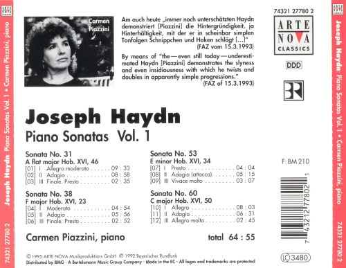 Haydn: Piano Sonatas No. 1