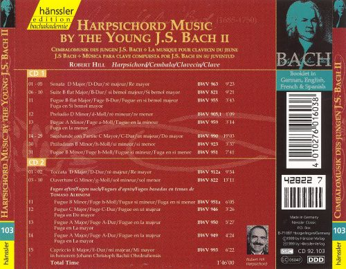 Harpsichord Music by the Young J. S. Bach, Vol. 2