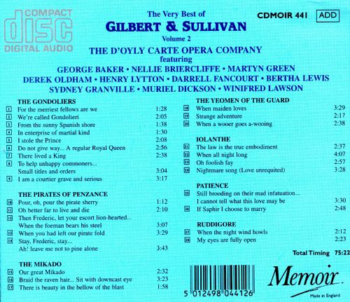 The Very Best of Gilbert & Sullivan, Vol. 2
