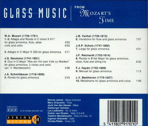 Glass Music from Mozart's Time
