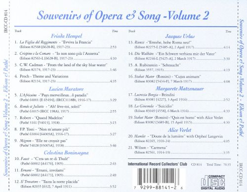 Souvenirs of Opera & Song - Volume 2