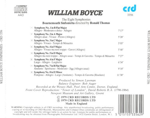 William Boyce: The Eight Symphonies