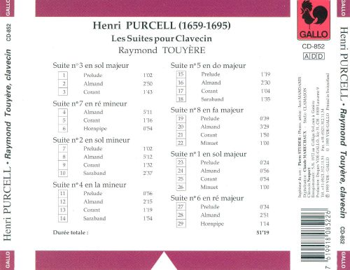 Purcell: Suites for Clavecin