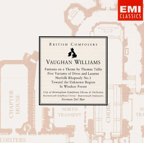 Ralph Vaughan Williams Fantasia On A Theme By Thomas Tallis Five Variants Of Dives And Lazarus Etc Norman Del Mar Release Info Allmusic