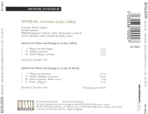 Dvorak: Piano Quintets Op. 5 and 81