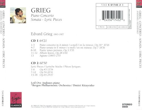 Grieg: Piano Concerto; Sonata; Lyric Pieces Opp. 43, 54 & 65