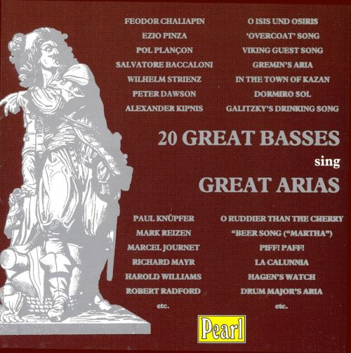 20 Great Basses sing Great Arias