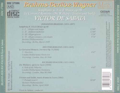 Wagner, Brahms and Berlioz