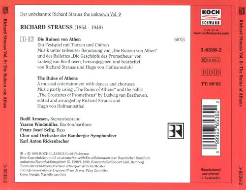Strauss, the Unknown, Vol. 9: The Ruins of Athens