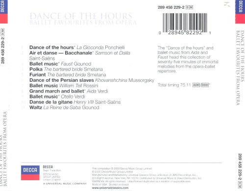 Dance of the Hours: Ballet Favorites from Opera