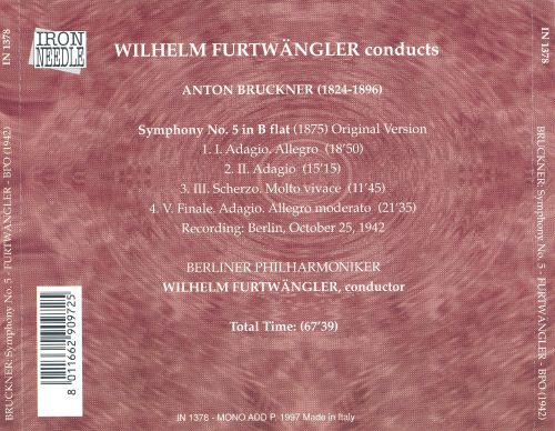 Wilhelm Furtwängler Conducts Bruckner