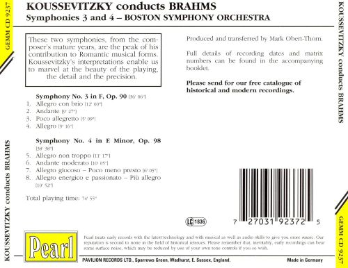 Koussevitzky Conducts Brahms