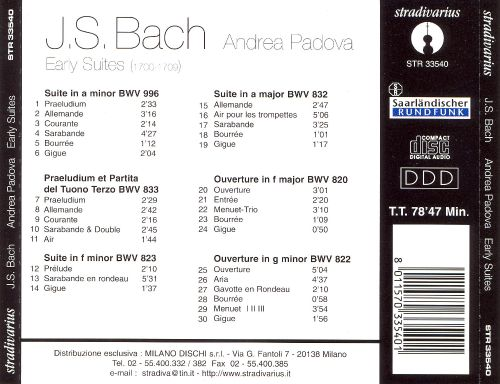 Bach: Keyboard Suites, Vol. 1