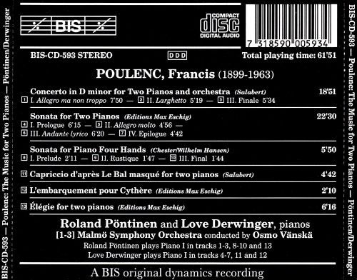 Poulenc: Complete Works for 2 Pianos