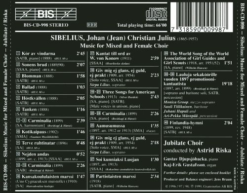 Sibelius: Music for Mixed and Female Choir