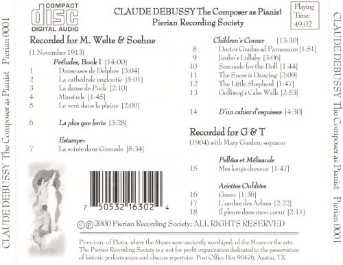 Claude Debussy: The Composer as Pianist