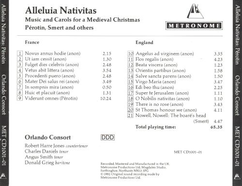 Alleluia Nativitas: Music and Carols for a Medieval Christmas