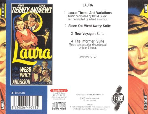Laura/Suites from Now Voyager, the Informer & Since You Went Away