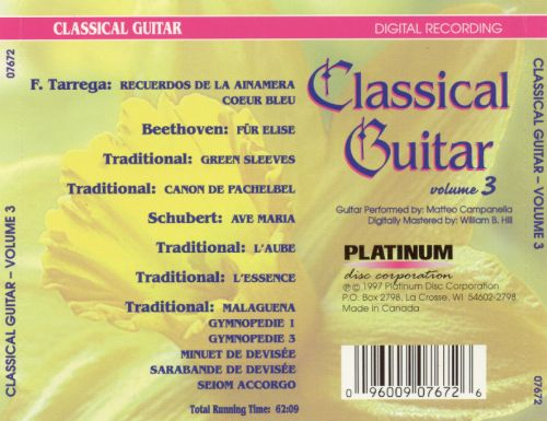 Classical Guitar, Vol. 3 [Platinum Disc]