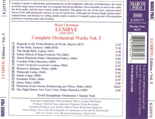 Hans Christian Lumbye: Complete Orchestral Works, Vol. 5