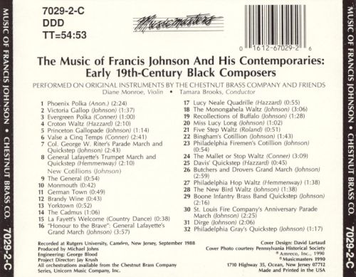 Music of Francis Johnson & His Contemporaries