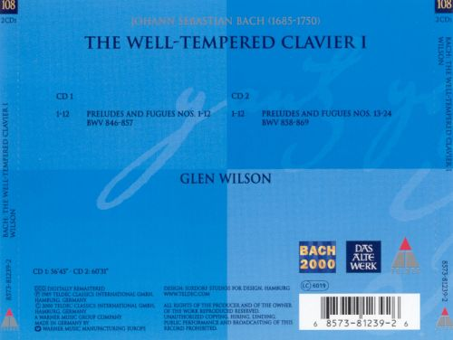 Bach: Well-Tempered Clavier, Book 1