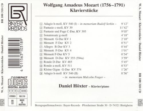 Daniel Höxter plays Mozart