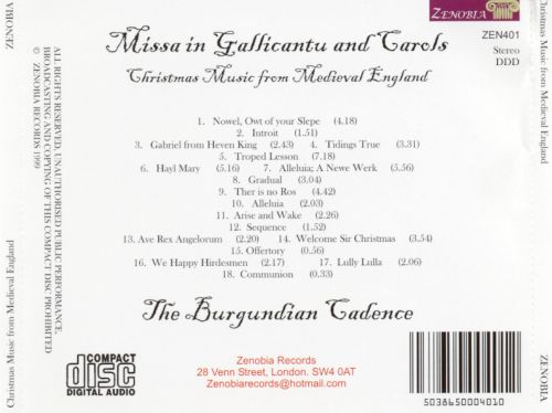 Missa in Gallicantu and Carols: Christmas Music from Medieval England