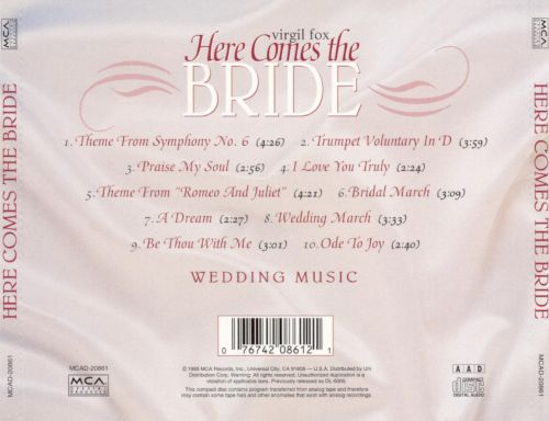 Here Comes The Bride Wedding Music Virgil Fox Songs Reviews