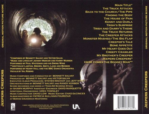 Jeepers Creepers [Original Motion Picture Score]