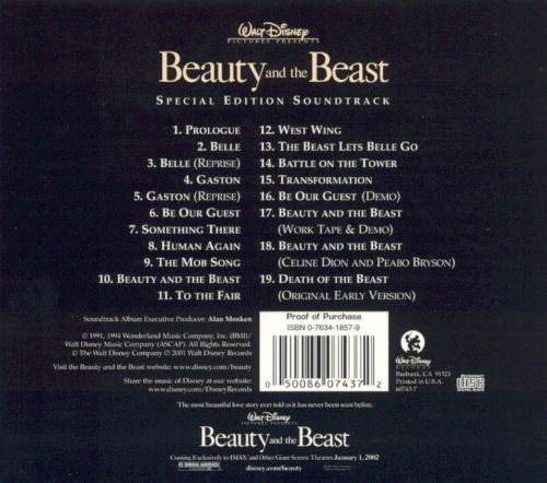 Beauty And The Beast Original Motion Picture Soundtrack: Beauty And The Beast [Special Edition Soundtrack]