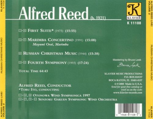 Russian Christmas Music - Alfred Reed | Songs, Reviews, Credits ...