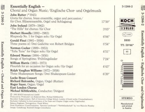 Essentially English: Choral & Organ Music