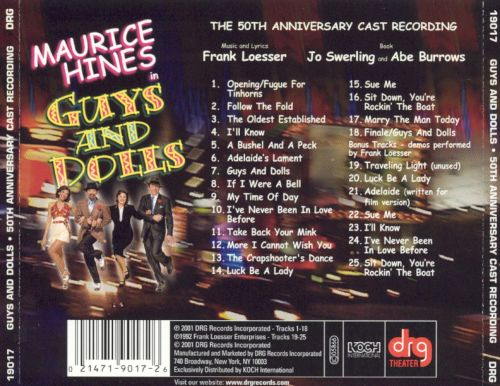 Guys and Dolls [50th Anniversary Cast Recording]