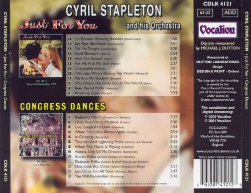 Cyril Stapleton and His Orchestra: Just For You / Congress Dances