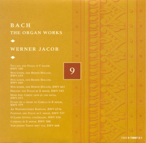 Bach: The Organ Works, Disc 9