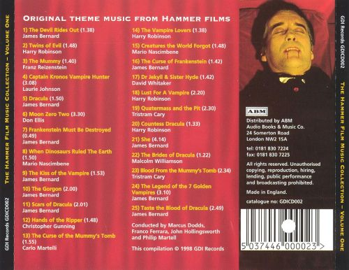 The Hammer Film Music Collection, Vol. 1