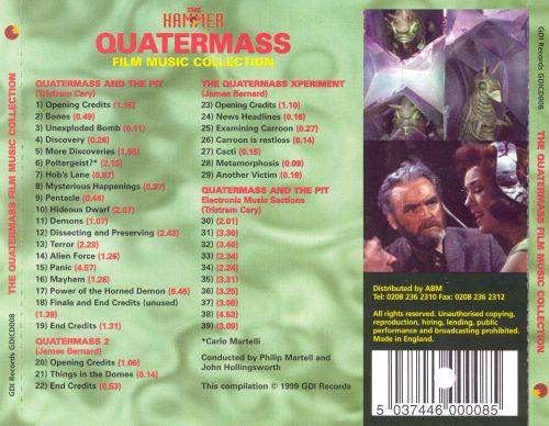 The Hammer Quatermass Film Music Collection