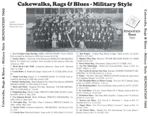 Cakewalks, Rags & Blues - Military Style