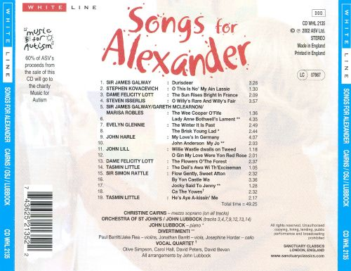 Songs for Alexander: Music for Autism