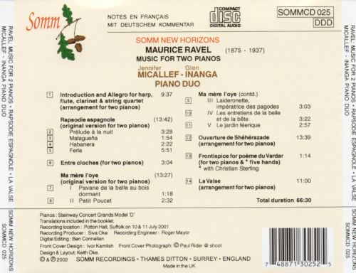 Ravel: Music for Two Pianos