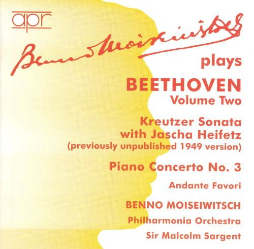 Benno Moiseiwitsch Plays Beethoven, Vol. 2
