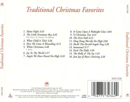 Traditional Christmas Favorites