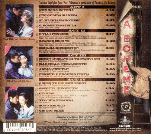 Baz Luhrmann's Production of Puccini's La Bohéme on Broadway [Original Cast Recording]